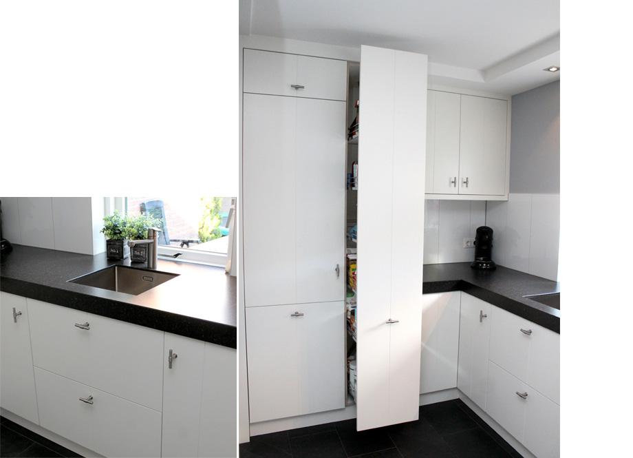 Witte Eiken Keuken : ≥ zgan complete witte keuken wit eiken structuur hoekkeuken