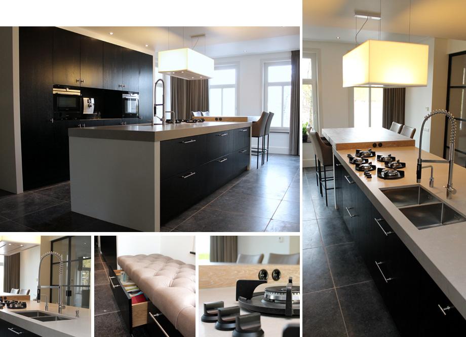 Betonlook keuken zwart home design idee n en meubilair inspiraties - Moderne amerikaanse keuken ...