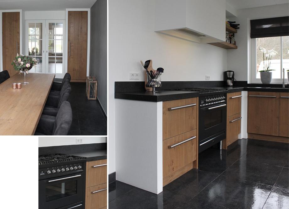 Keuken Eiken Zwart : Vinkelse slagen keuken rijwoning b showroom van wanrooij