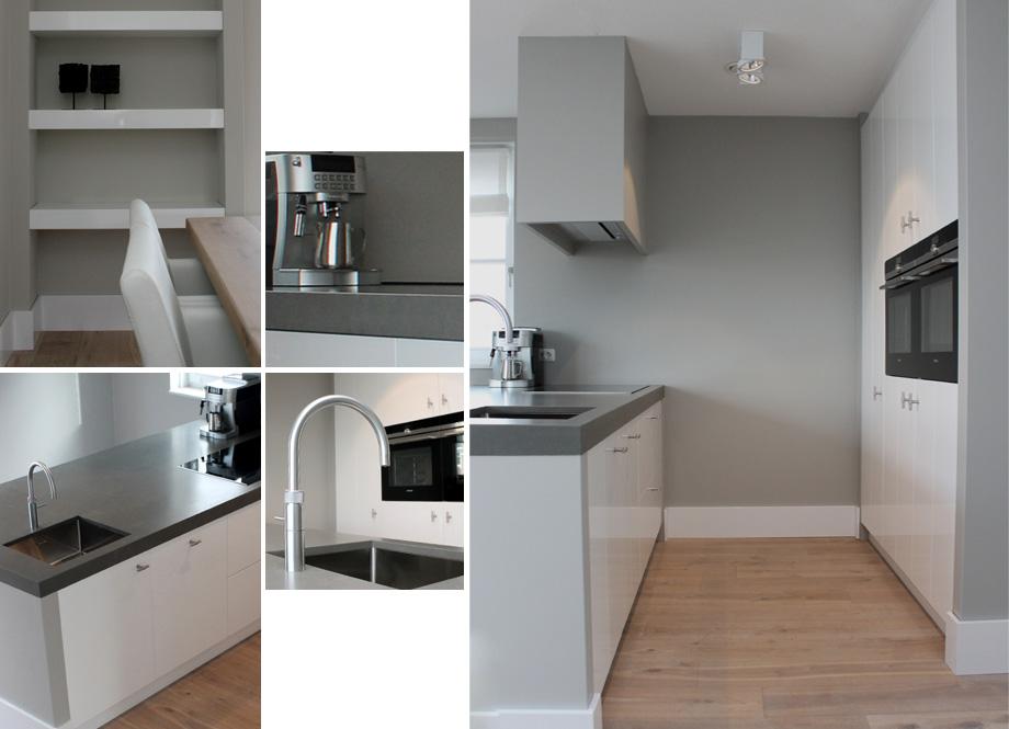 Witte keuken met eiland met keuken eiland - Centrum eiland keuken ...